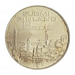 Finlandia 10 Markka. 1971. AG. 24,2gr. Ley:0,500. (Cpto.Atletismo Europeo). Ø35mm. SC. KM. 52