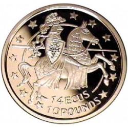 Gibraltar 10 Libra/Pound. 1992. AG. 10gr. Ley:0,925. (14 Ecu). Ø30mm. PRF. KM. 109