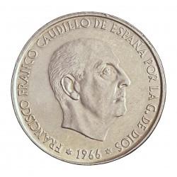 España 100 Ptas. 1966. *19*70. AG. 19gr. Ley:0,800. Ø34mm. EBC/EBC+. CT. 18 - HG. 356