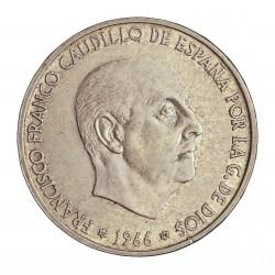 España 100 Ptas. 1966. *19*70. AG. 19gr. Ley:0,800. Ø34mm. MBC-. CT. 18 - HG. 356