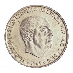 España 100 Ptas. 1966. *19*70. AG. 19gr. Ley:0,800. Ø34mm. MBC+. CT. 18 - HG. 356