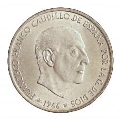 España 100 Ptas. 1966. *67. AG. 19gr. Ley:0,800. Ø34mm. SC. (Su Tono y Brillo originales)