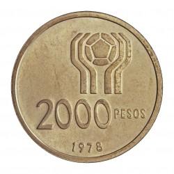 Argentina 2000 Pesos. 1978. AG. 15gr. Ley:0,900. (Futbol'78). Ø33mm. SC. KM. 54