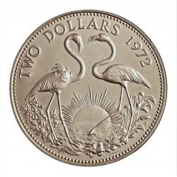 Bahamas 2 Dolar. 1972. AG. 29,8gr. Ley:0,925. (Flamencos). Ø40mm. SC. KM. 23