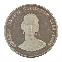 Belgica 250 Francos. 1995. AG. 18,75gr. Ley:0,925. 60º Anv.Muerte Reina Astrid). Ø30mm. PRF. KM. 199