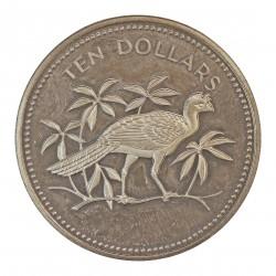Belice 10 Dolar. 1975. AG. 29,8gr. Ley:0,920. (Gran Curassow). Ø40mm. PRF. KM. 46 a
