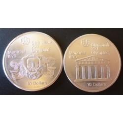 Canada LOTE. 1974. AG. 97,2gr. Ley:0,925. (2 Monedas diferentes-Olimp.Montreal). Ø44mm. SC
