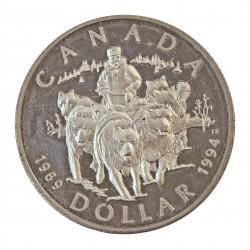 Canada 1 Dolar. 1994. AG. 25,175gr. Ley:0,925. (Tineo y Perros). Ø36mm. PRF. KM. 251