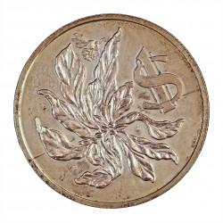 Cayman.-Islas 1 Dolar. 1973. AG. 18gr. Ley:0,925. (25º Anv.Coronación). Ø35mm. SC. KM. 31
