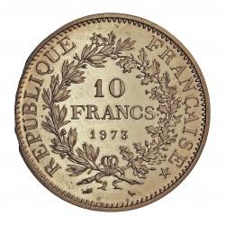 Francia 10 Francos. 1973. AG. 25gr. Ley:0,900. Ø37mm. SC. (Fondo Brillo). KM. 932 - GAD. 813