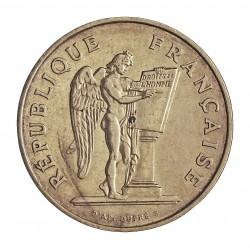 Francia 100 Francos. 1989. AG. 15gr. Ley:0,900. (Genio Redactando la Constitucon). Ø31mm. SC-. KM. 970