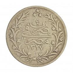Egipto 5 Qirsh. 1910. (AH1327/4). AG. 7gr. Ley:0,830. Ø21mm. MBC-. KM. 308