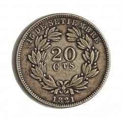 Nicaragua 20 Ctvo. 1880. H-(Heaton). AG. 5gr. Ley:0,800. Ø23mm. MBC+. KM. 4