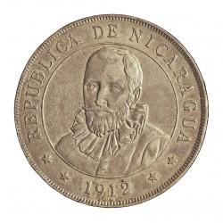 Nicaragua 1 Cordoba. 1912. H-(Heaton). AG. 25gr. Ø38mm. MBC+/EBC-. KM. 16