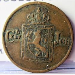 Noruega ½ Skilling. 1841. CU. 4,5gr. Ø21,5mm. MBC. KM. 305.2