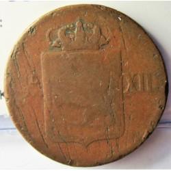 Noruega 1 Skilling. 1816. CU. 11gr. Ø26mm. BC/BC+. KM. 284