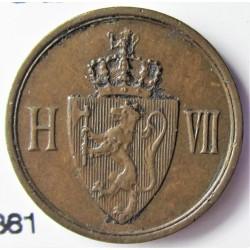 Noruega 1 Ore. 1906. AE. 2gr. Ø16mm. MBC+/EBC-. KM. 361