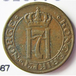 Noruega 1 Ore. 1914. AE. 2gr. Ø16mm. MBC+. KM. 367