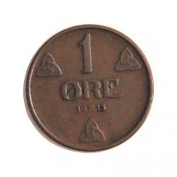 Noruega 1 Ore. 1915. AE. 2gr. Ø16mm. MBC+/EBC-. RARO/A. KM. 367