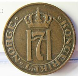 Noruega 5 Ore. 1911. CU. 8gr. Ø27mm. MBC. KM. 368