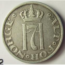 Noruega 10 Ore. 1915. AG. 1,45gr. Ley:0,400. Ø15mm. MBC+/EBC-. KM. 372