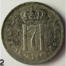 Noruega 10 Ore. 1919. AG. 1,45gr. Ley:0,400. Ø15mm. MBC+. KM. 372