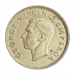 Nueva Zelanda 1 Florin. 1942. AG. 11,31gr. Ley:0,500. (Pajaro Kiwi). Ø28mm. EBC-/EBC+. ESCASO/A. KM. 10.1
