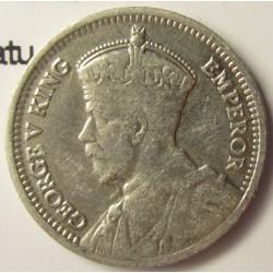 Nueva Zelanda 3 Pence. 1933. AG. 1,41gr. Ley:0,500. (Patu cruzado). Ø16mm. MBC. KM. 1