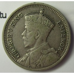 Nueva Zelanda 3 Pence. 1934. AG. 1,41gr. Ley:0,500. (Patu cruzado). Ø16mm. MBC+. KM. 1