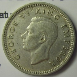 Nueva Zelanda 3 Pence. 1942. AG. 1,41gr. Ley:0,500. (Patu cruzado). Ø16mm. EBC-/EBC. KM. 7