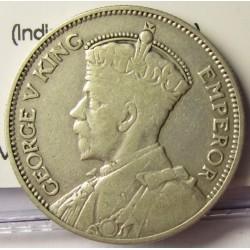 Nueva Zelanda 1 Shilling. 1933. AG. 5,65gr. Ley:0,500. (Indigena con lanza). Ø23mm. MBC-/MBC. KM. 3