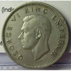 Nueva Zelanda 1 Shilling. 1937. AG. 5,65gr. Ley:0,500. (Indigena con lanza). Ø23mm. MBC+. KM. 9
