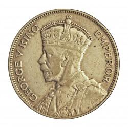 Nueva Zelanda ½ Corona. 1933. AG. 14,14gr. Ley:0,500. Ø32mm. MBC/EBC. KM. 5