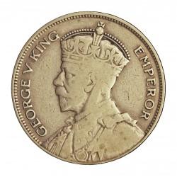 Nueva Zelanda ½ Corona. 1935. AG. 14,14gr. Ley:0,500. Ø32mm. BC+/MBC+. KM. 5