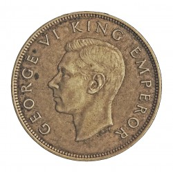 Nueva Zelanda ½ Corona. 1943. AG. 14,14gr. Ley:0,500. Ø32mm. EBC/EBC+. ESCASO/A. asi. KM. 11