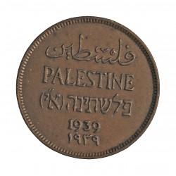 Palestina 1 Mils. 1939. AE. 3,2gr. Ø21mm. SC-/SC. (Patina). KM. 1