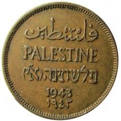 Palestina 1 Mils. 1942. AE. 3,2gr. Ø21mm. EBC/EBC+. (Lev.suciedad.Patina). KM. 1