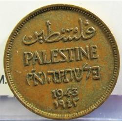 Palestina 1 Mils. 1943. AE. 3,2gr. Ø21mm. EBC/EBC+. (Lev.suciedad.Patina). KM. 1
