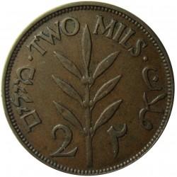 Palestina 2 Mils. 1927. AE. 7,65gr. Ø28mm. MBC+/EBC-. (Patina). KM. 2