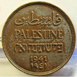 Palestina 2 Mils. 1941. AE. 7,65gr. Ø28mm. MBC+/EBC-. (Puntitos de poxid.Patina.). KM. 2