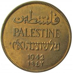 Palestina 2 Mils. 1942. AE. 7,65gr. Ø28mm. MBC/MBC+. (Lev.limpiada.Patina). KM. 2