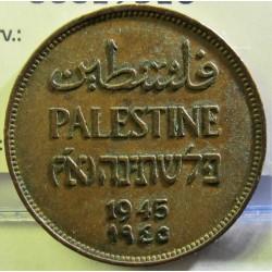 Palestina 2 Mils. 1945. AE. 7,65gr. Ø28mm. MBC+/EBC-. (Patina). KM. 2