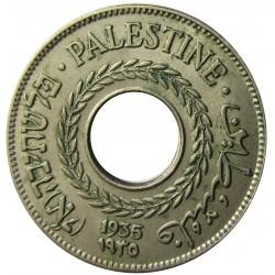Palestina 5 Mils. 1935. CUNI. 2,9gr. Ø20mm. EBC/EBC+. (Lev.patina.). KM. 3