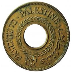 Palestina 5 Mils. 1944. AE. 3gr. Ø20mm. EBC/EBC+. (Patina.). KM. 3a