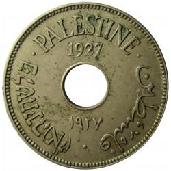 Palestina 10 Mils. 1927. CUNI. 6,5gr. Ø27mm. EBC+. (Lev.suciedad). KM. 4