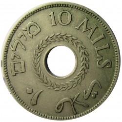 Palestina 10 Mils. 1933. CUNI. 6,5gr. Ø27mm. MBC-. KM. 4