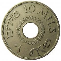 Palestina 10 Mils. 1934. CUNI. 6,5gr. Ø27mm. MBC-/MBC. KM. 4