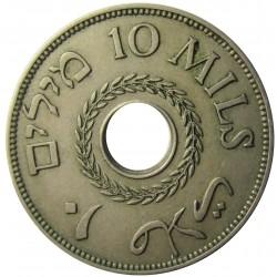 Palestina 10 Mils. 1940. CUNI. 6,5gr. Ø27mm. EBC-/EBC. (Lev.patina). KM. 4