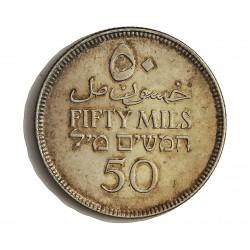 Palestina 50 Mils. 1927. AG. 5,832gr. Ley:0,720. Ø23mm. SC-/SC. (Lev.patina). RARO/A. asi. KM. 6