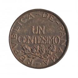 Panama 1  Centesimos. 1935. AE. 3,1gr. Ø19mm. SC-/SC. (Lev.patina). RARO/A. en esta conservacion. KM. 14